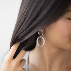 Pavé Links Post Drop Earrings
